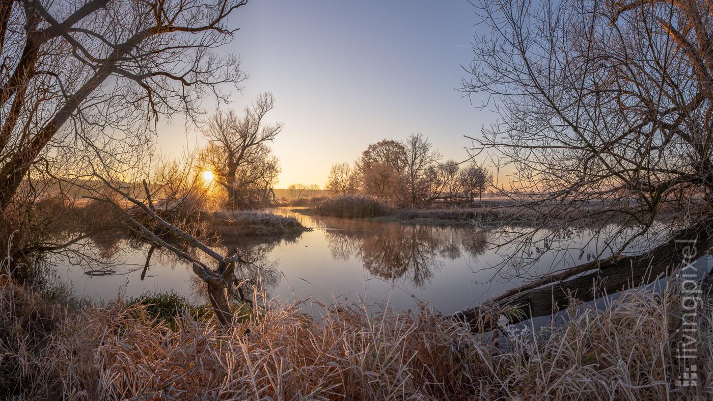 Wintermorgen an der Spree