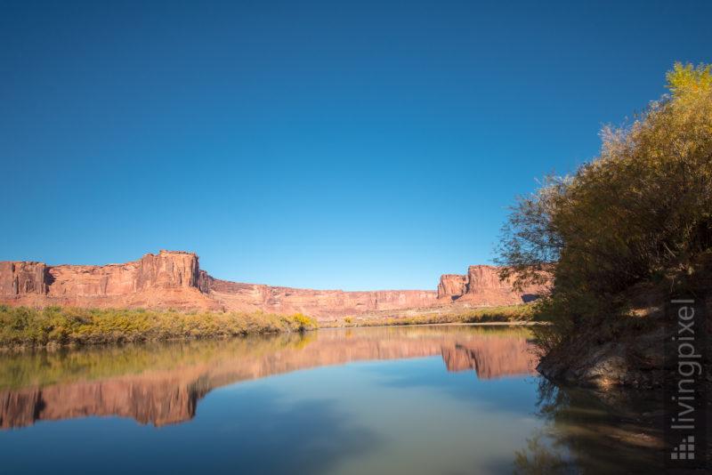 Reflektion auf dem Green River