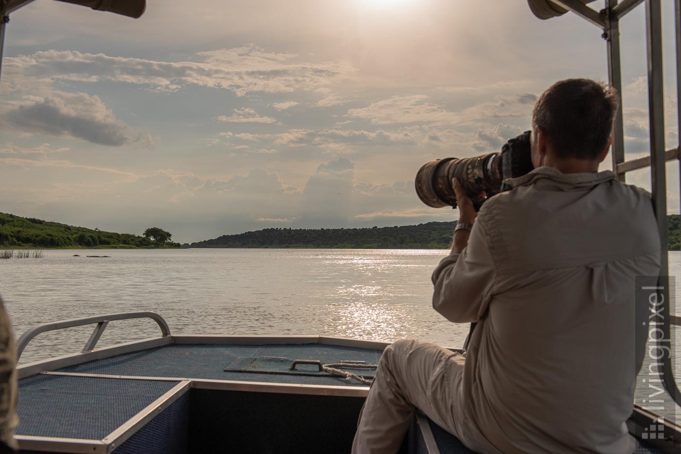 Bootsausflug auf dem Kazinga Kanal