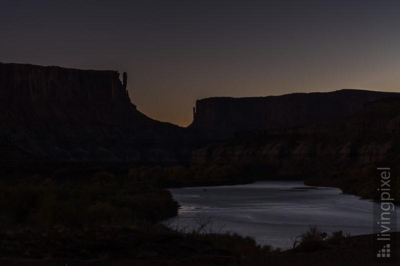 Sonnenuntergang am Green River