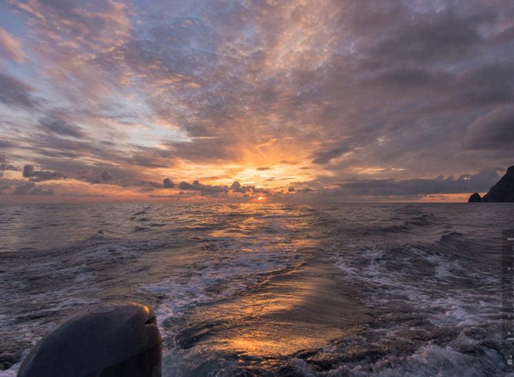 Sonnenuntergang auf dem Fjord