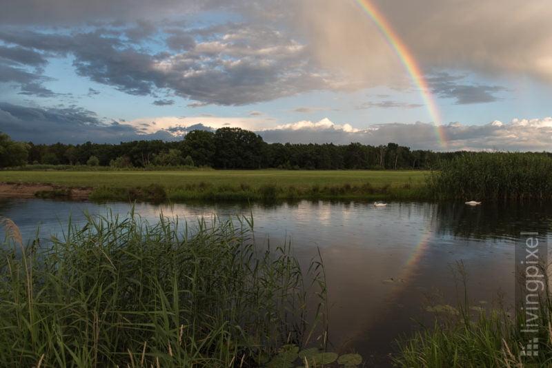 Regenbogen über der Spree
