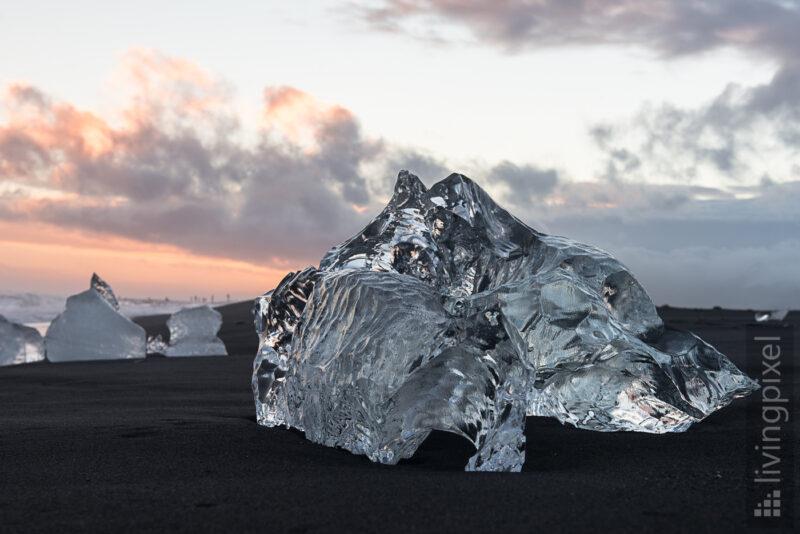Skulptur aus Eis