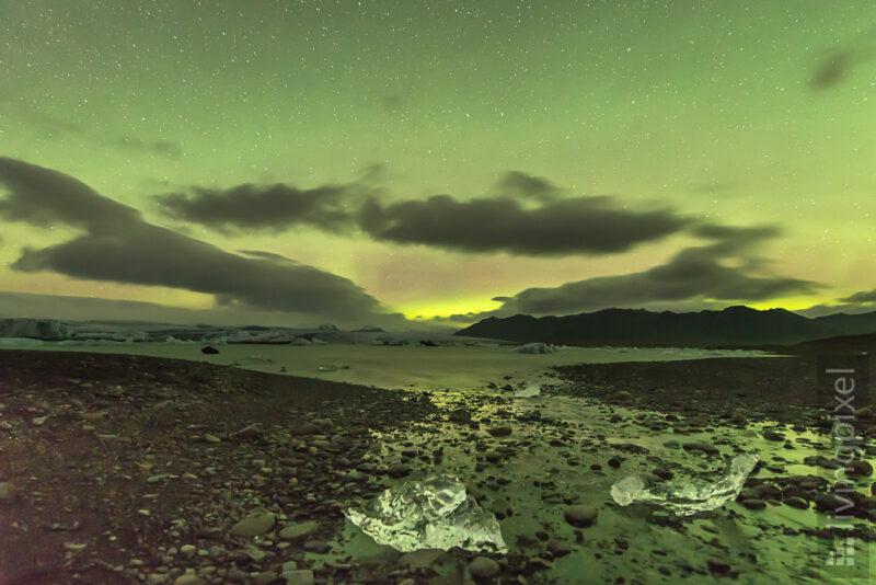Polarlicht über der Lagune